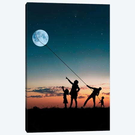Family Canvas Print #AEV51} by Abdullah Evindar Canvas Artwork
