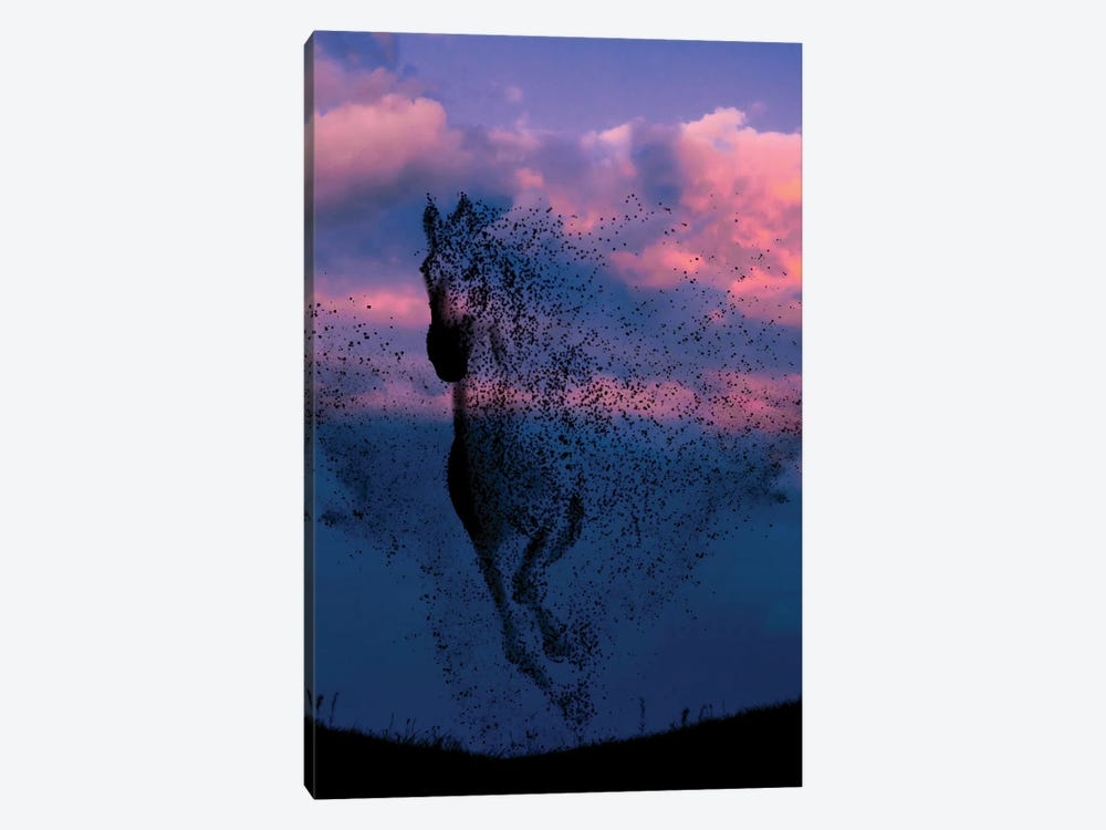 Wind And Horse by Abdullah Evindar 1-piece Canvas Art Print