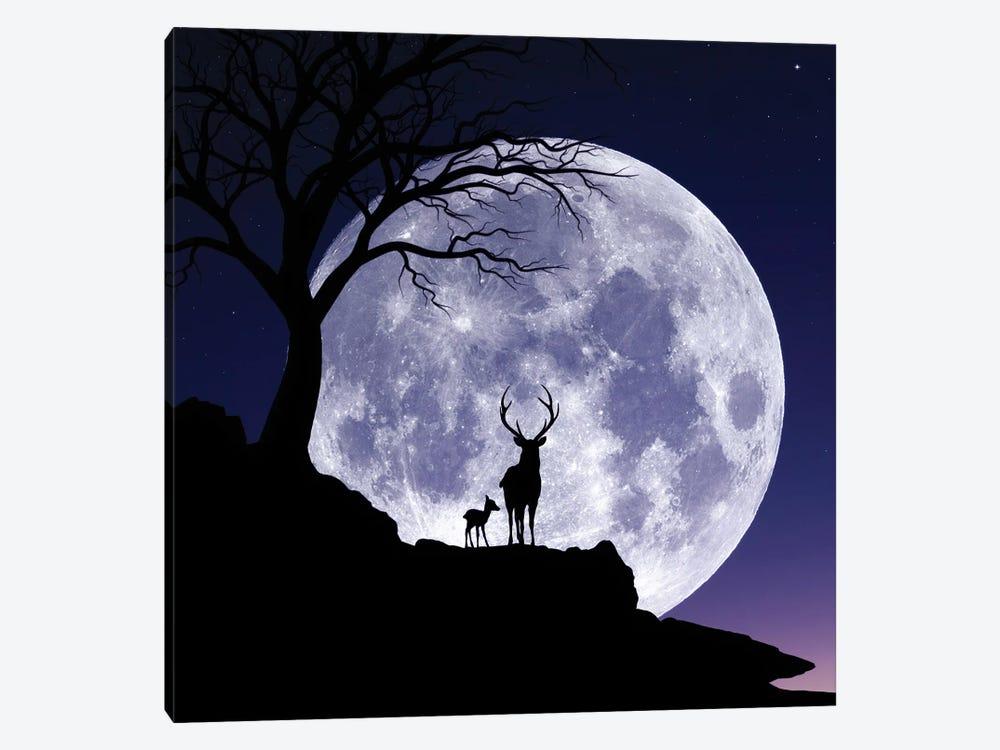 Moon And Gazelle by Abdullah Evindar 1-piece Art Print