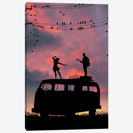 The Song Of Sparrows Canvas Print #AEV71} by Abdullah Evindar Canvas Art