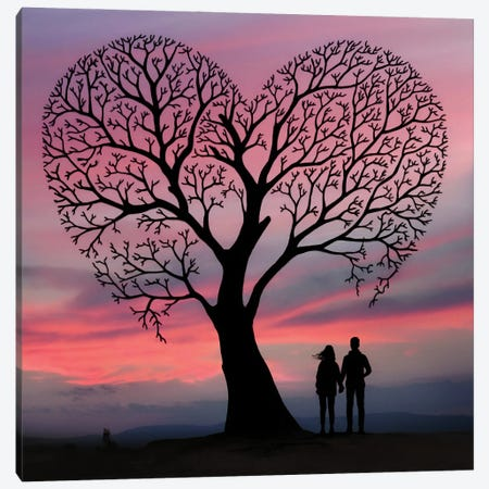 My Heart Canvas Print #AEV83} by Abdullah Evindar Canvas Art Print