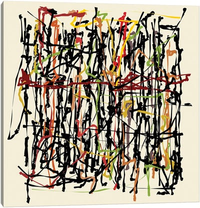 Pollock Wink Canvas Art Print
