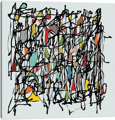Pollock Wink II Canvas Art Print