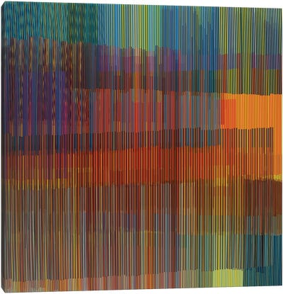 Multiple Colored Lines Canvas Art Print