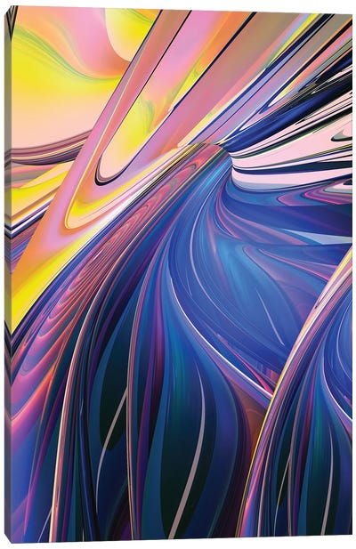 Vibrant Shapes Canvas Art Print