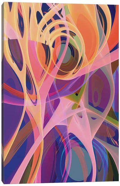 Mixing Of Colors And Shapes Canvas Art Print