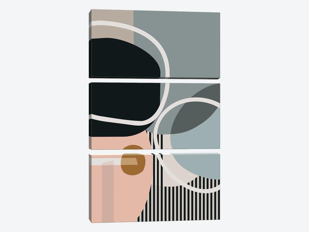 Hoops And Circles by Angel Estevez 3-piece Art Print