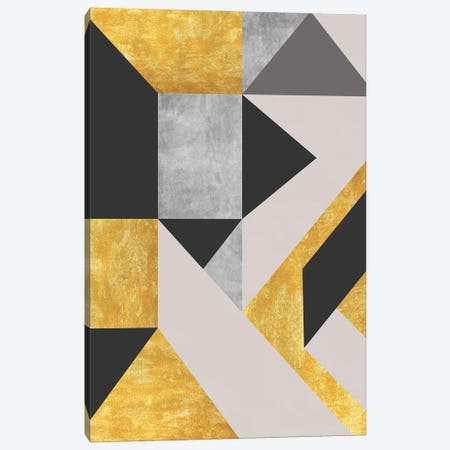 Gold,Black And Gray Construction Canvas Print #AEZ123} by Angel Estevez Canvas Art