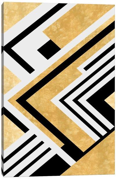 Diagonal Geometry Canvas Art Print