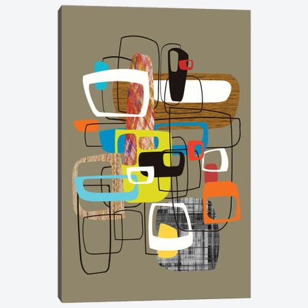 Lined With Hollow Shapes Canvas Print #AEZ128} by Angel Estevez Canvas Artwork