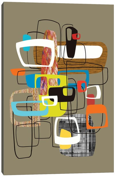 Lined With Hollow Shapes Canvas Art Print