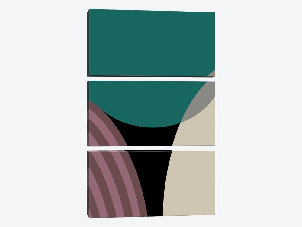 Meeting Of Semi Circles by Angel Estevez 3-piece Canvas Print