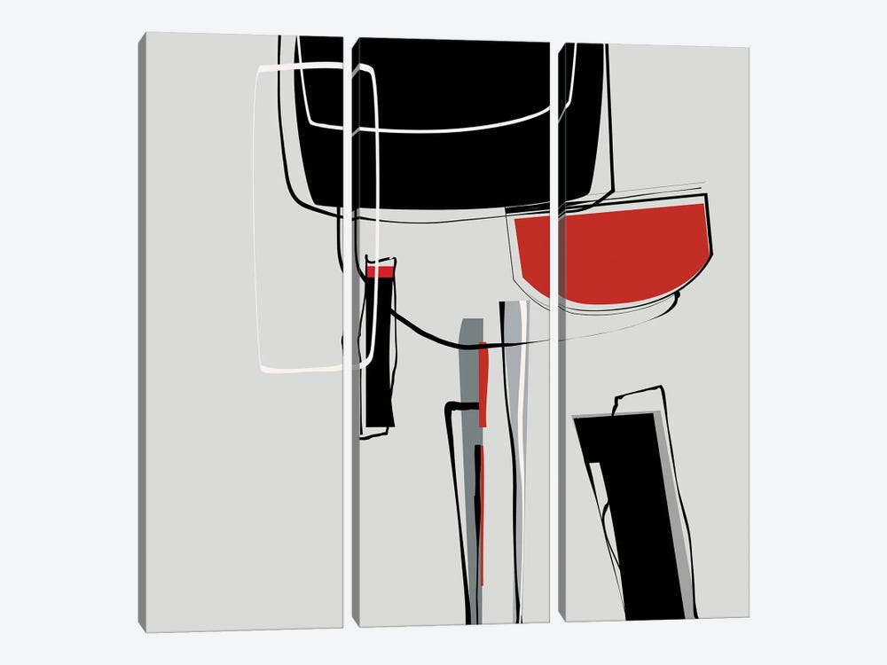 Loose Shapes by Angel Estevez 3-piece Canvas Artwork