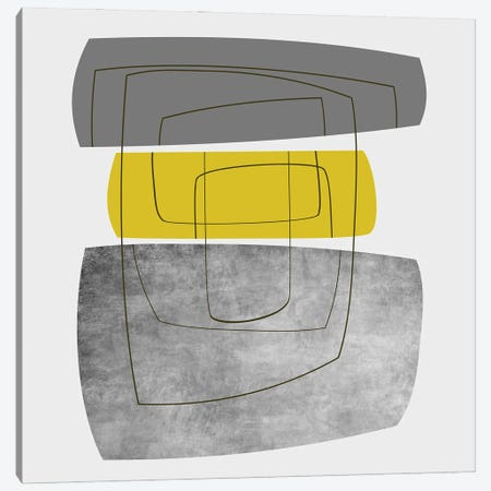 Minimalist In Gray And Yellow Canvas Print #AEZ139} by Angel Estevez Canvas Art Print