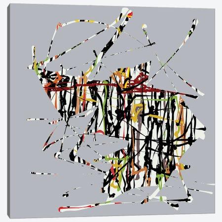 Colorful Doodles On Gray Background Canvas Print #AEZ140} by Angel Estevez Canvas Wall Art