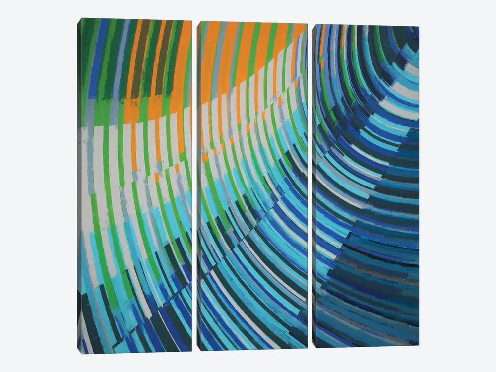 Curved Lines by Angel Estevez 3-piece Art Print