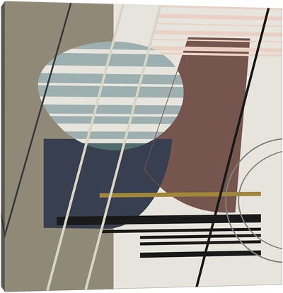Overlapping Shapes Canvas Art Print