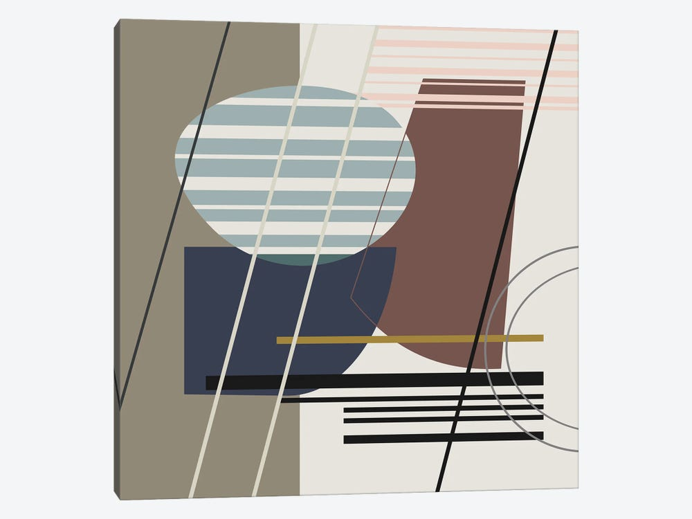Overlapping Shapes by Angel Estevez 1-piece Art Print