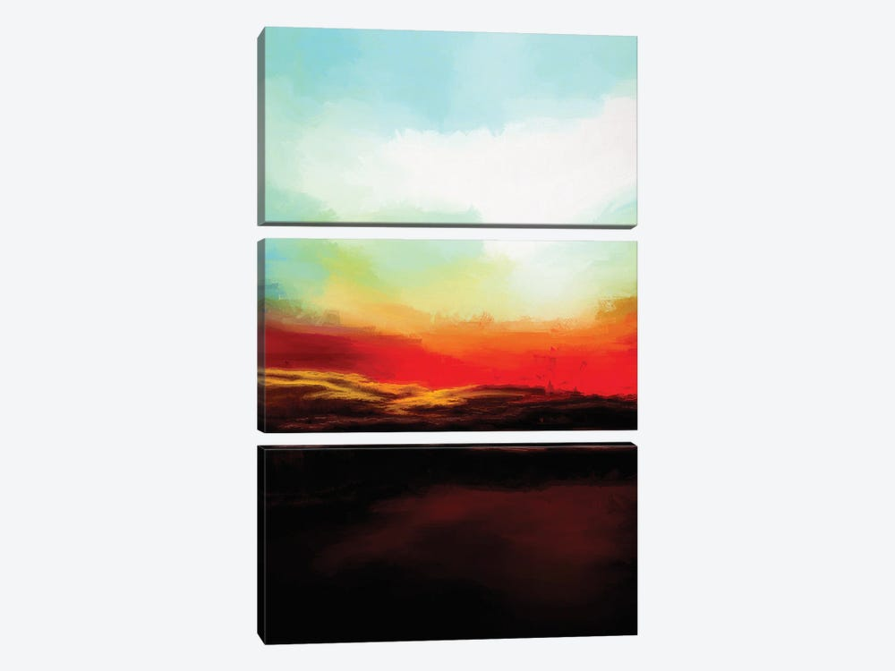 Beautiful Evening by Angel Estevez 3-piece Canvas Art