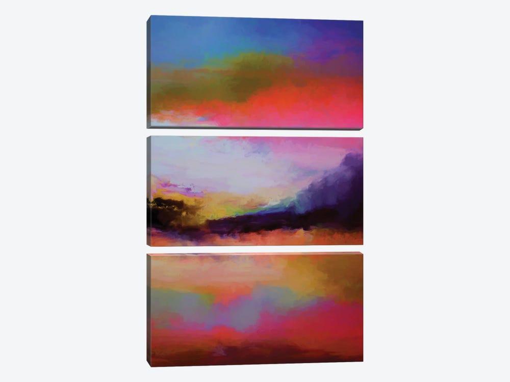 Mountains At Twilight by Angel Estevez 3-piece Canvas Art
