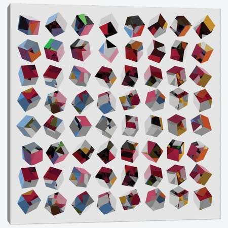 3D Cubes Canvas Print #AEZ162} by Angel Estevez Canvas Wall Art
