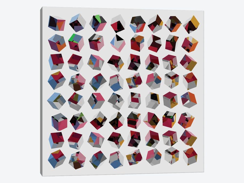 3D Cubes by Angel Estevez 1-piece Canvas Artwork
