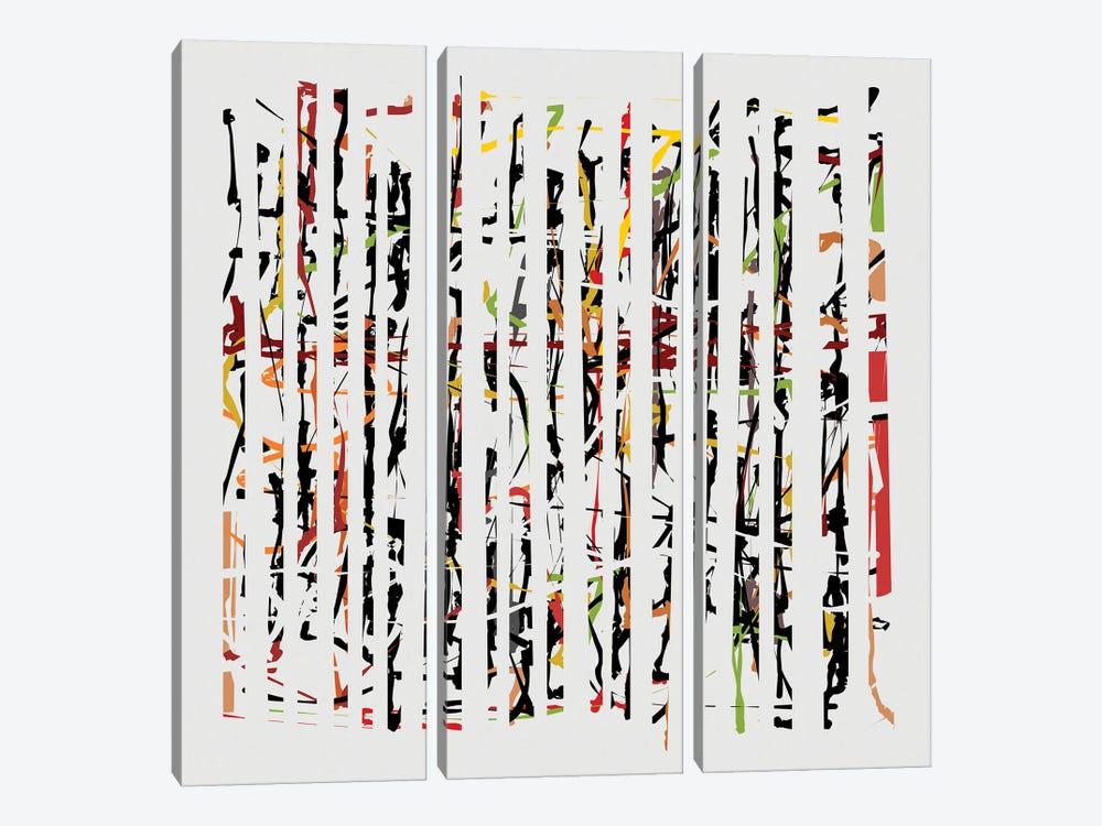Between Cracks II by Angel Estevez 3-piece Canvas Wall Art