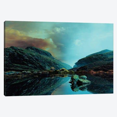 Clear Blue Skies,Liquid Mirror Canvas Print #AEZ16} by Angel Estevez Art Print
