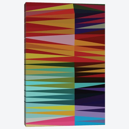Pointed Shapes Canvas Print #AEZ183} by Angel Estevez Canvas Wall Art
