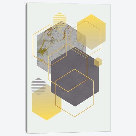 Polygons In Harmony Canvas Print #AEZ184} by Angel Estevez Canvas Art Print