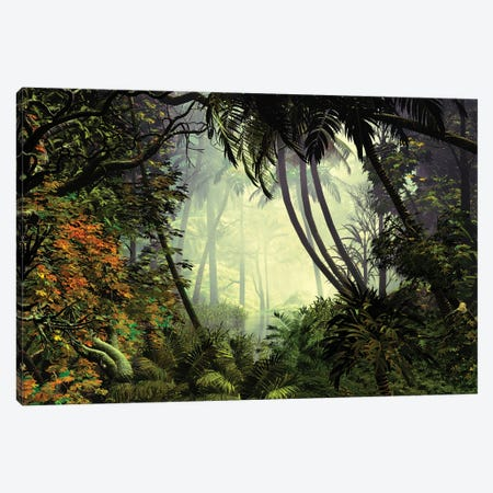 Exciting Jungle Canvas Print #AEZ18} by Angel Estevez Canvas Art
