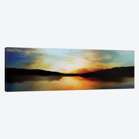 Vibrant Sunset Canvas Print #AEZ199} by Angel Estevez Art Print