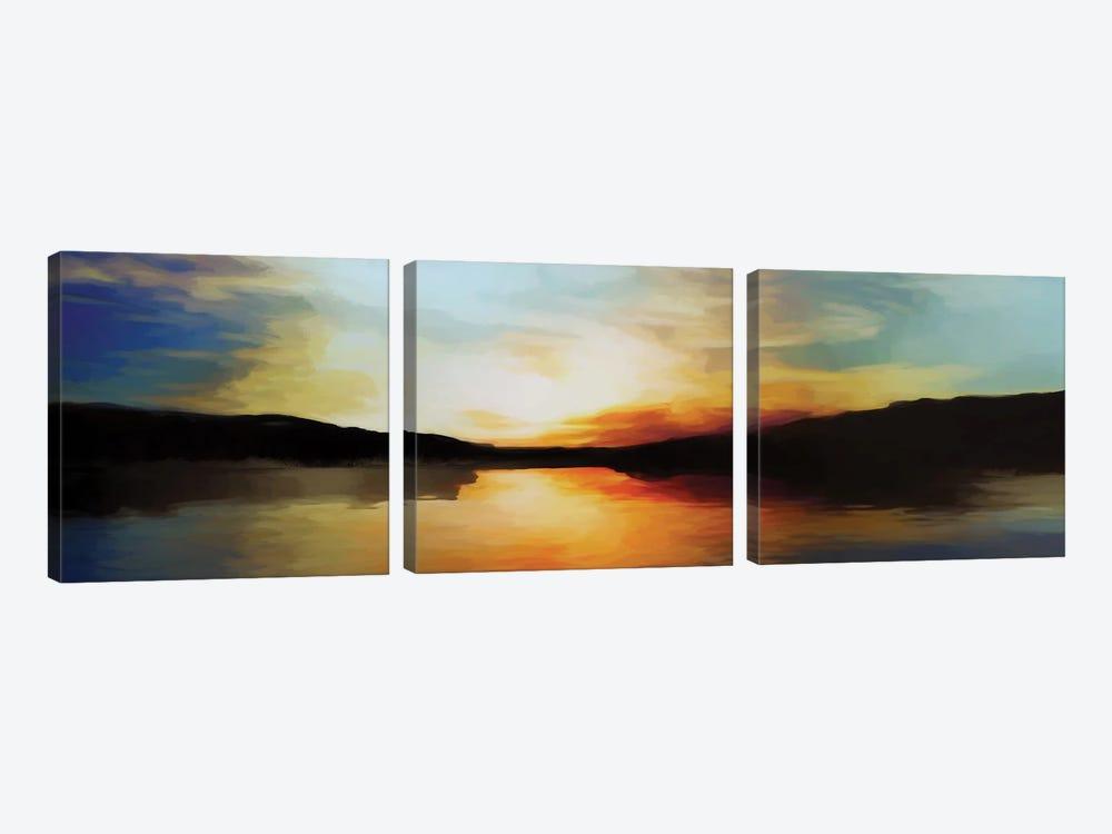 Vibrant Sunset by Angel Estevez 3-piece Canvas Artwork