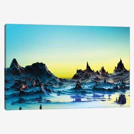 A Cold Bluish Landscape Canvas Print #AEZ1} by Angel Estevez Canvas Wall Art