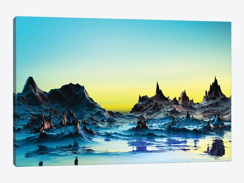 A Cold Bluish Landscape by Angel Estevez 1-piece Canvas Artwork