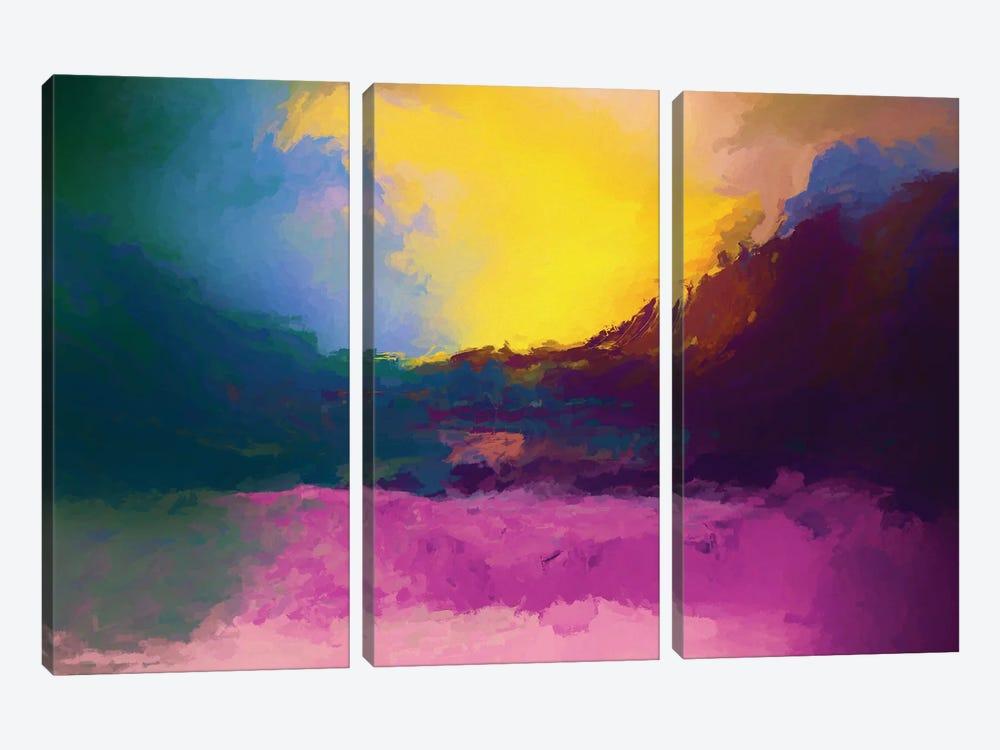 Vibrant Sunset II by Angel Estevez 3-piece Canvas Wall Art