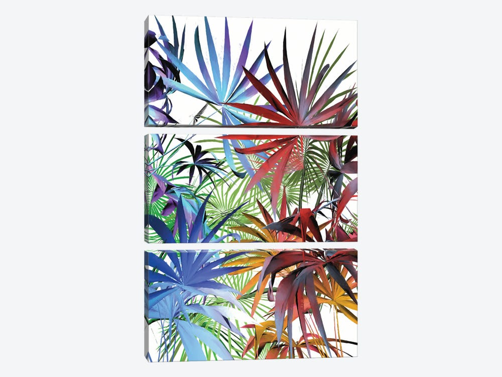 Tropical Foliage II by Angel Estevez 3-piece Canvas Art Print