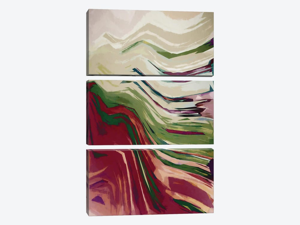 Colorful Mountains III by Angel Estevez 3-piece Canvas Wall Art