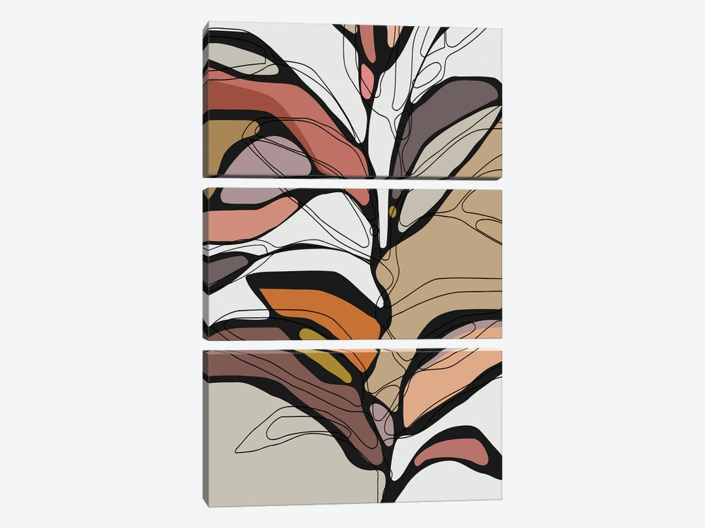 Colorful Tree II 3-piece Canvas Art Print