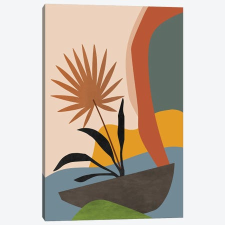 Minimal Tropical Scenery Canvas Print #AEZ213} by Angel Estevez Canvas Artwork