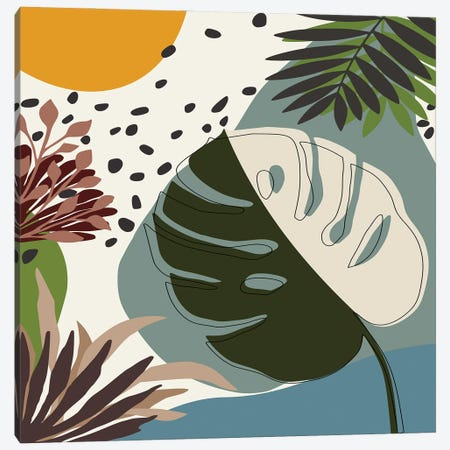 Minimal Tropical Scenery II Canvas Print #AEZ214} by Angel Estevez Art Print