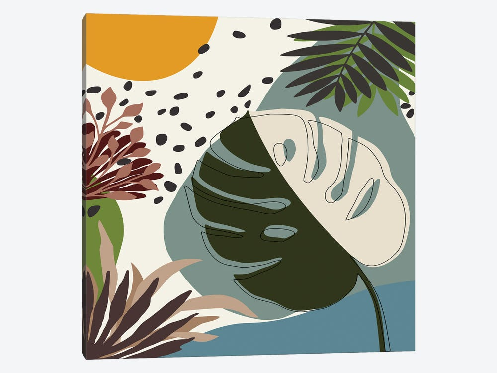Minimal Tropical Scenery II by Angel Estevez 1-piece Canvas Print