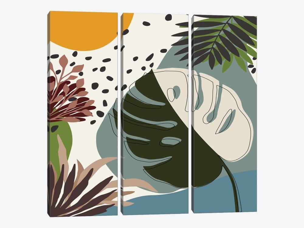 Minimal Tropical Scenery II by Angel Estevez 3-piece Canvas Print