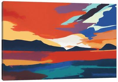 Vibrant Sunset III Canvas Art Print