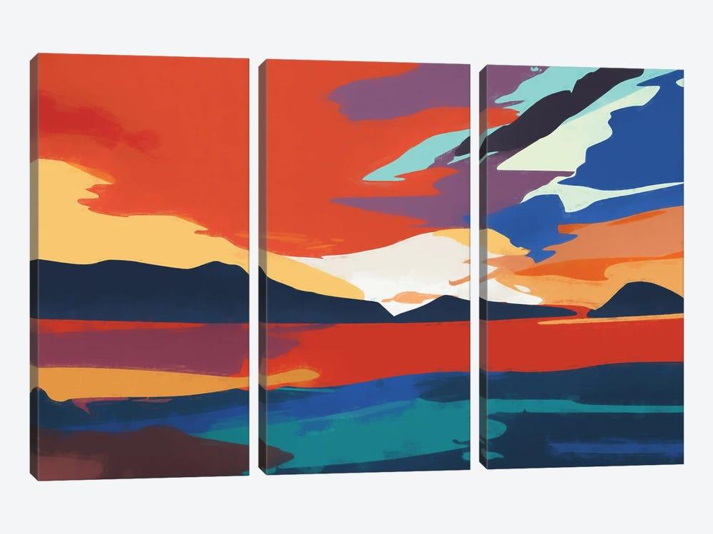 Vibrant Sunset III by Angel Estevez 3-piece Canvas Art