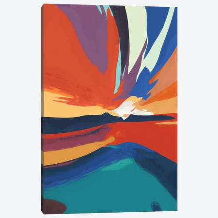 Vibrant Sunset IV Canvas Print #AEZ218} by Angel Estevez Canvas Art