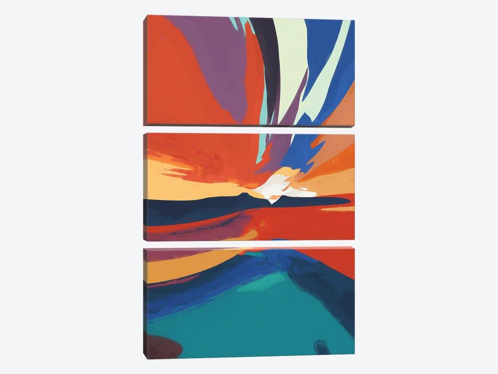 Vibrant Sunset IV by Angel Estevez 3-piece Art Print