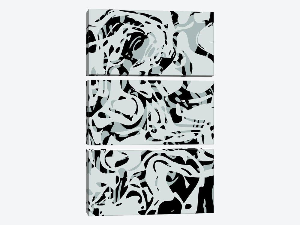 Hollow Shapes II by Angel Estevez 3-piece Canvas Artwork