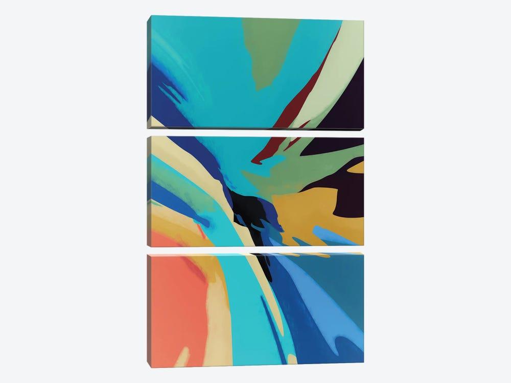Meeting of Colors by Angel Estevez 3-piece Canvas Art Print