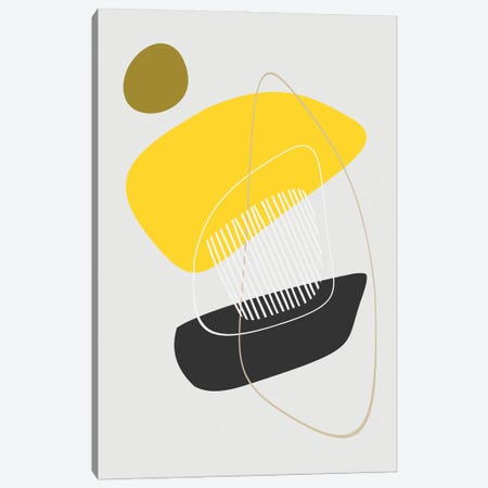 Minimal in Yellow and Black Canvas Print #AEZ224} by Angel Estevez Canvas Art